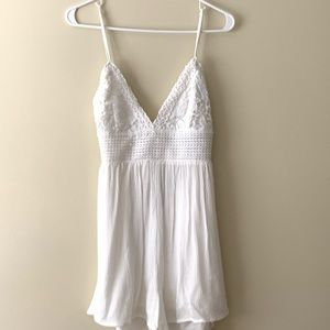White Lace Romper from Garage